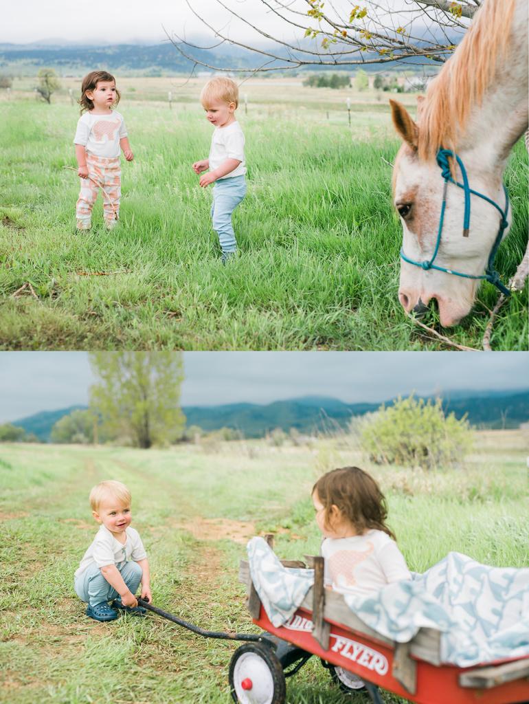 Organic Cotton Baby Girl Leggings – Pink Fox
